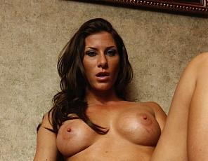 Professional female bodybuilder Ariel X