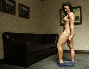 Professional female bodybuilder Bella