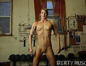 Professional female bodybuilder Charlotte