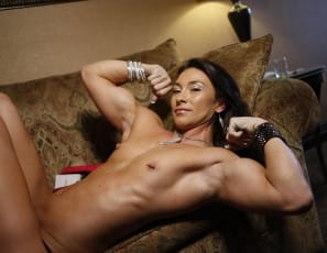 Professional female bodybuilder Jenna