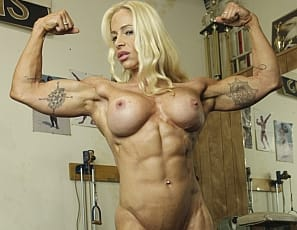 Professional female bodybuilder Jill Jaxen