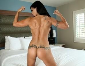 Professional female bodybuilder Megan Avalon