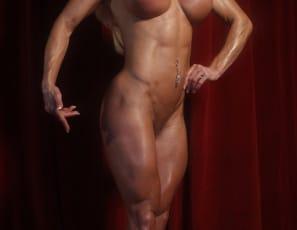 Professional female bodybuilder Ashlee Chambers