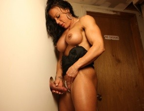 Professional female bodybuilder JBella