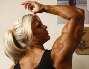 Professional female bodybuilder Lisa Cross