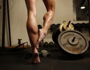 Professional female bodybuilder Mandy K