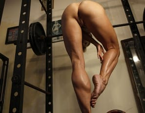 Professional female bodybuilder Mandy K