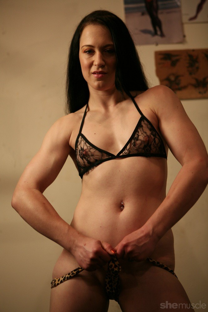 nude female biceps get touch