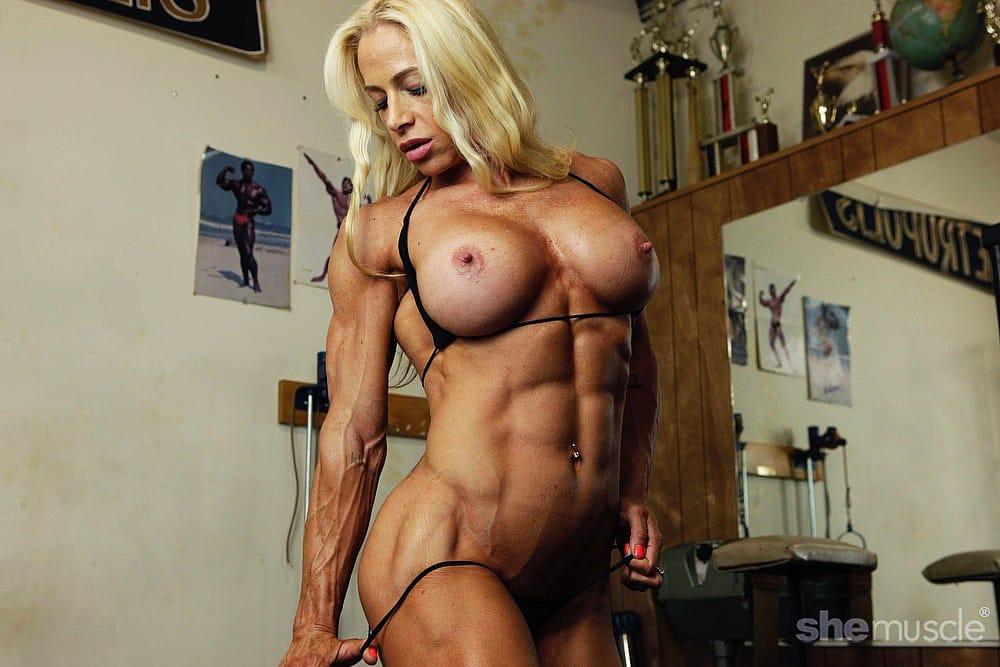 Jill Jaxen - Naked Female Bodybuilder - She's a Pro