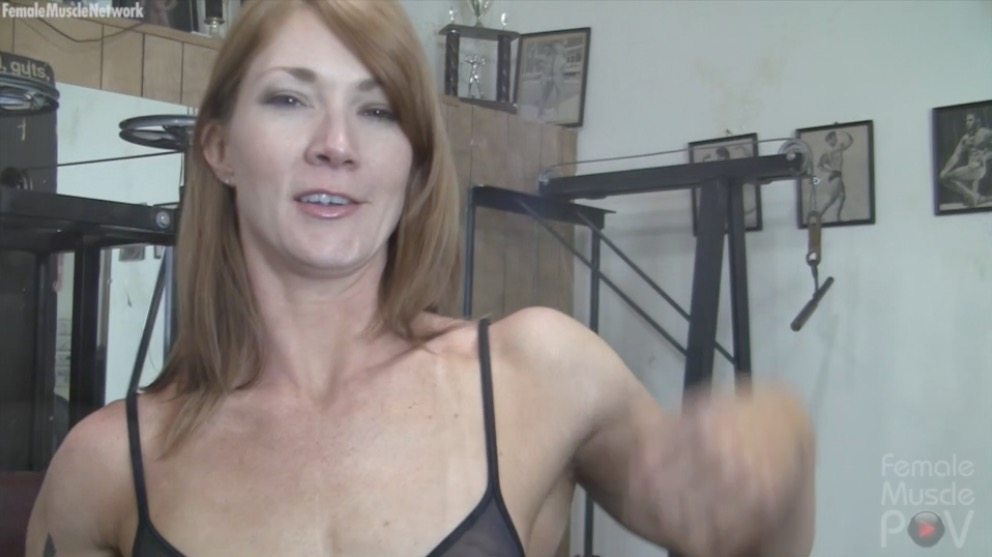 female muscle pov video