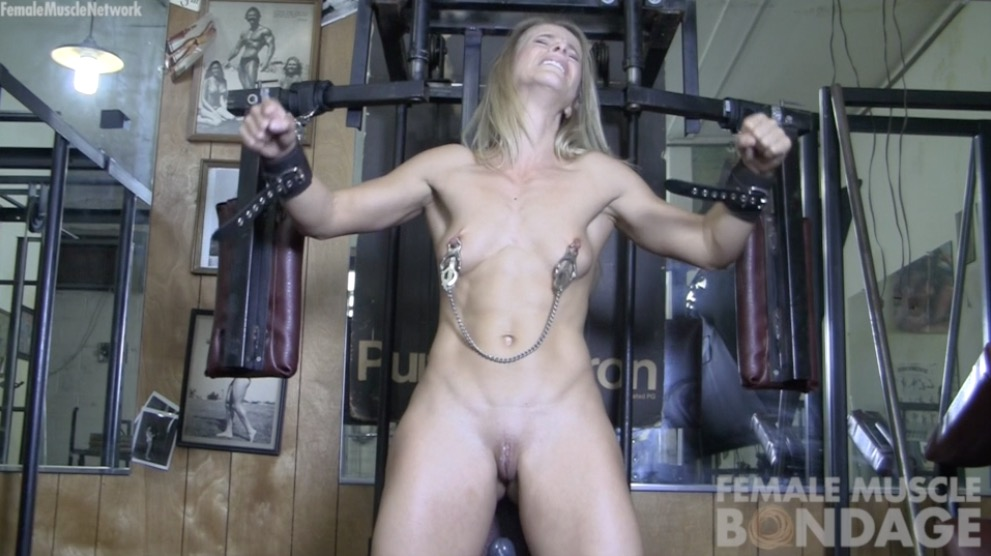 female muscle bondage video