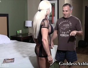 Naked female bodybuilder Ashlee Chambers takes on one of her biggest fans in a no-holds-barred wrestling match in her bedroom. This video features all of Ashlee's best features: big muscles, big tits, big fun! This is part one of three.