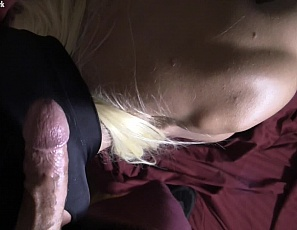 Slave Lauren continues her POV cock sucking session with a lucky stranger. She works his cock over masterfully until he can't help but shoot his load all over her pantyhose and up her muscular back. I bet he was thinking,