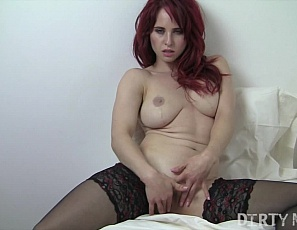 What more needs to be said? Sexy, fit redhead Andrea gets her greedy fingers all wet with her own pussy juice. She loves rubbing her clit and getting more and more untamed. Watching this woman finger herself is enough to drive anyone insane! Agree?