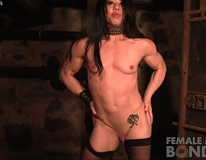 The powerful Carmin Blue masturbates her big clit and wet pussy in the dungeon. It seems being restrained and having to escape has a certain effect on Carmin and she's all to eager to share it with everyone.