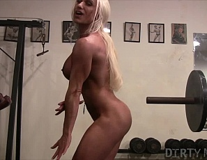 Ashlee Chambers loves showing off her muscular porn star body. She has powerful pecs, big biceps, and strong quads and glutes, However, Ashlee loves showing off her big clit more than anything else. You'll be glad she does.