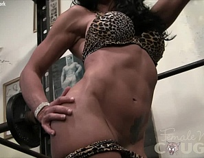 Female bodybuilder Willa is too hot to handle. She has big biceps, tight abs, and glorious glutes and how she loves to show off. She gets so turned on that she almost forgets herself and starts to turn the gym into, well, you'll just have to watch and see.