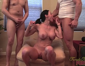 Female muscle porn star Kendra Lust has two men to worship her muscles as she poses for them, gets penetrated and gives a hand job, blow job and bicep job. Besides the group muscle sex, masturbation, and muscle fucking, you'll enjoy looking at Kendra's muscular pecs, legs, biceps and abs.