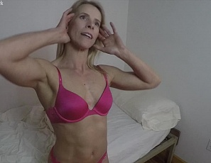 Claire is in her bedroom getting nicely muscle worshiped in a sexy POV session. Her man feels her big biceps and ripped, taught abs. He admires Claire's sexy legs in her stockings and can't help but admire her perfect glutes. It's only a matter of time until Claire's panties come off and her friend is teasing her wet pussy with his fingers.