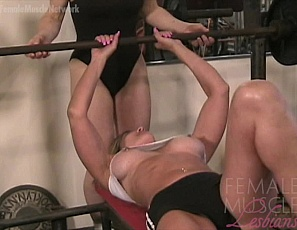 Female muscle lesbians Tia and Debbie are working out in the gym workout when they decide they want to worship each others amazing muscles. Never ones to miss an opportunity, we let the camera roll and captured a video that all lesbian lovers are going to enjoy. This video captures two hot, muscle lesbians playing - you don't want to miss it.