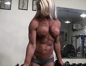 Ginger Martin has some impressive pecs. Ginger Martin has impressive muscle control. When she combines the two, well, you are in for something special. Don't take out word for it - see for yourself!