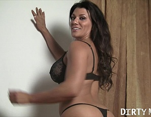 Female bodybuilder and muscle porn star Leena is posing for you in her bedroom, showing off the powerful muscles of her pecs, biceps, legs and glutes, and taking off her panties so she's naked except for her shoes, then masturbating barefoot and penetrating herself with a huge black toy as you watch her cum in close-up.