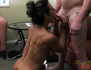 Briana Beau loves her boyfriend and loves showing us all just how much. Starting with a good blow job this sessions contains an awesome fuck session that show off Briana's awesome physique and her big, swollen clit.