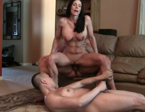 Female muscle porn star Kendra Lust is getting her pecs, biceps, abs, glutes and leg muscles worshiped while she gets penetrated, masturbated and fucked hard. Then she gives a quad job and hand job. Watch the group muscle sex and her hot ass and pussy in close-up.