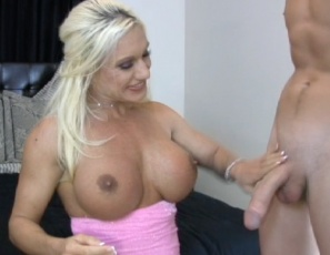 Female muscle porn star Ashlee Chambers tips her movers by giving them hand jobs and blow jobs, then lets them masturbate her wet pussy and big clit and  penetrate her while they worship her muscular pecs, biceps, abs, legs and glutes. Watch the muscle sex in close-up. It'll move you.