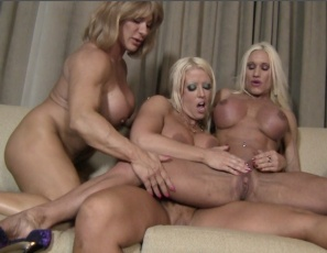 Female bodybuilders Amazon Alura, Ashlee Chambers and Wild Kat are worshiping each other's ripped, vascular muscles and licking each other's big clits as they pose and enjoy three sets of pecs, legs, glutes calves, biceps and abs. You get to watch all the wild girl/girl/girl muscle porn sex in close-up.